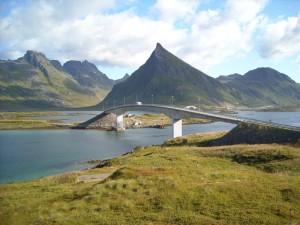 m-Sicht von Fredvang nach Skjelfjord